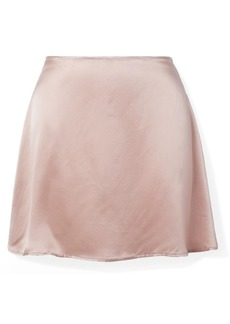 Reformation Benson Silk-satin Mini Skirt