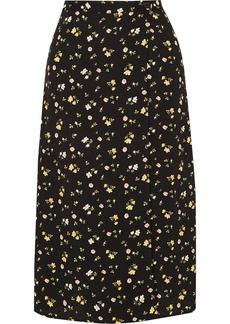 Reformation Betty Floral-print Crepe De Chine Wrap Skirt