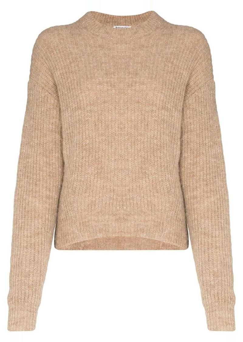 Reformation Finn high-neck knitted jumper