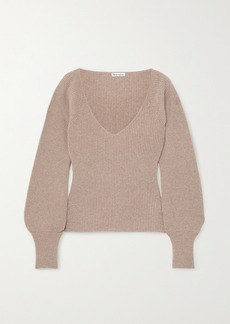 Reformation Hart Ribbed Cashmere And Wool-blend Sweater