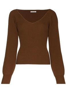 Reformation Heart cashmere jumper
