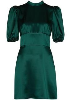 Reformation high-shine silk mini dress