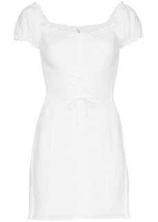 Reformation 'Hudsun' linen mini dress with belt