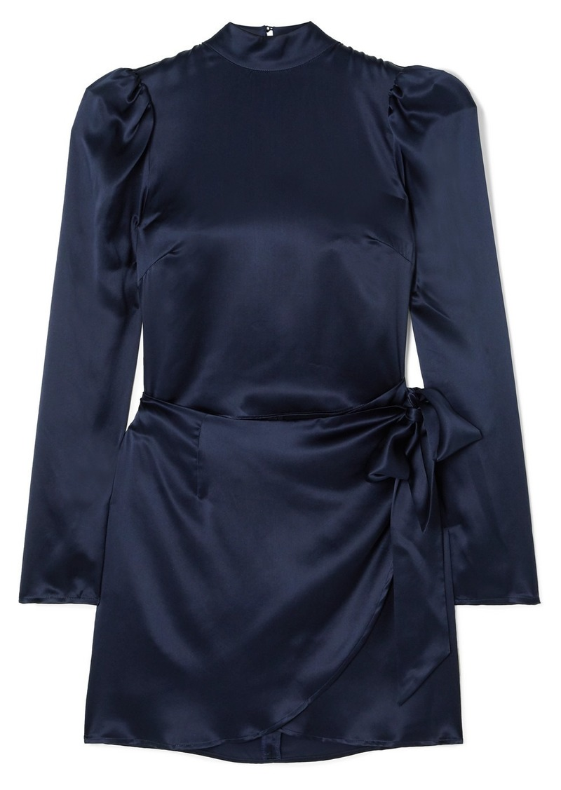 Reformation Josefine Silk-charmeuse Mini Dress
