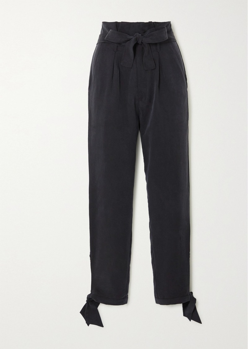 Reformation Net Sustain Avalon Tie-detailed Tencel Tapered Pants