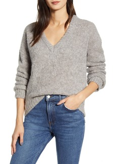 Reformation Amelia Deep V-Neck Alpaca Blend Sweater