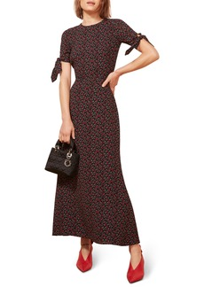 Reformation Amsterdam Tie Sleeve Body-Con Maxi Dress