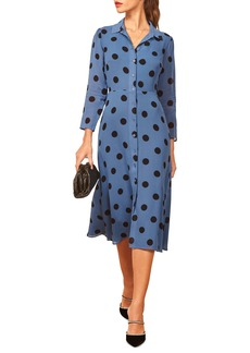 Reformation Arcadia Spot Print Shirtdress