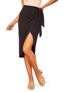Reformation Aruba Wrap Skirt