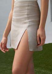 Reformation Baker Front Slit Miniskirt
