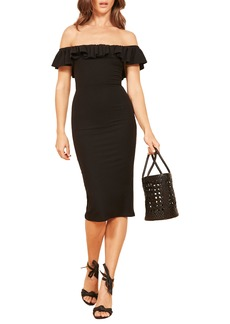 Reformation Bettina Off the Shoulder Body-Con Dress