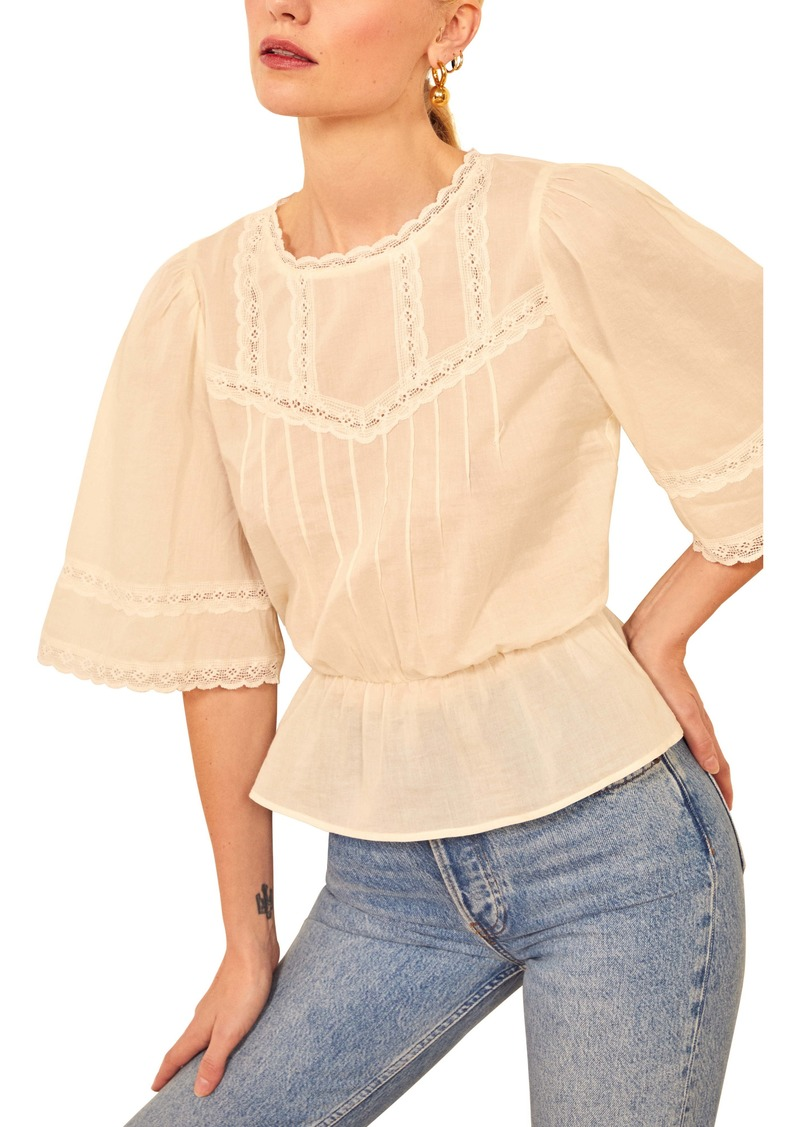 Reformation Blanche Organic Cotton Top