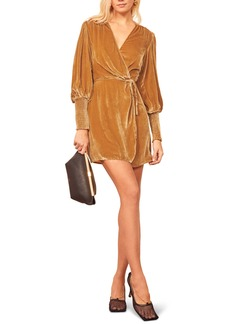 Reformation Boheme Long Sleeve Wrap Dress