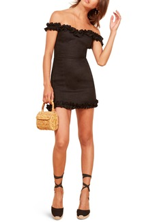 Reformation Bonita Linen Body-Con Dress