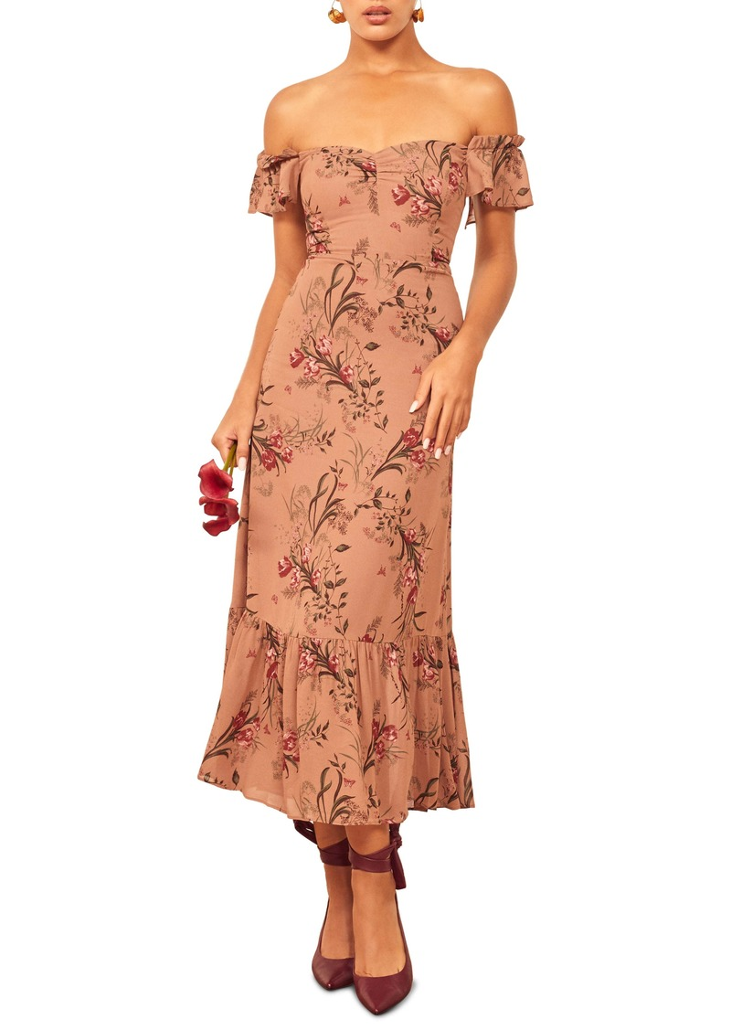 Reformation Butterfly Midi Dress