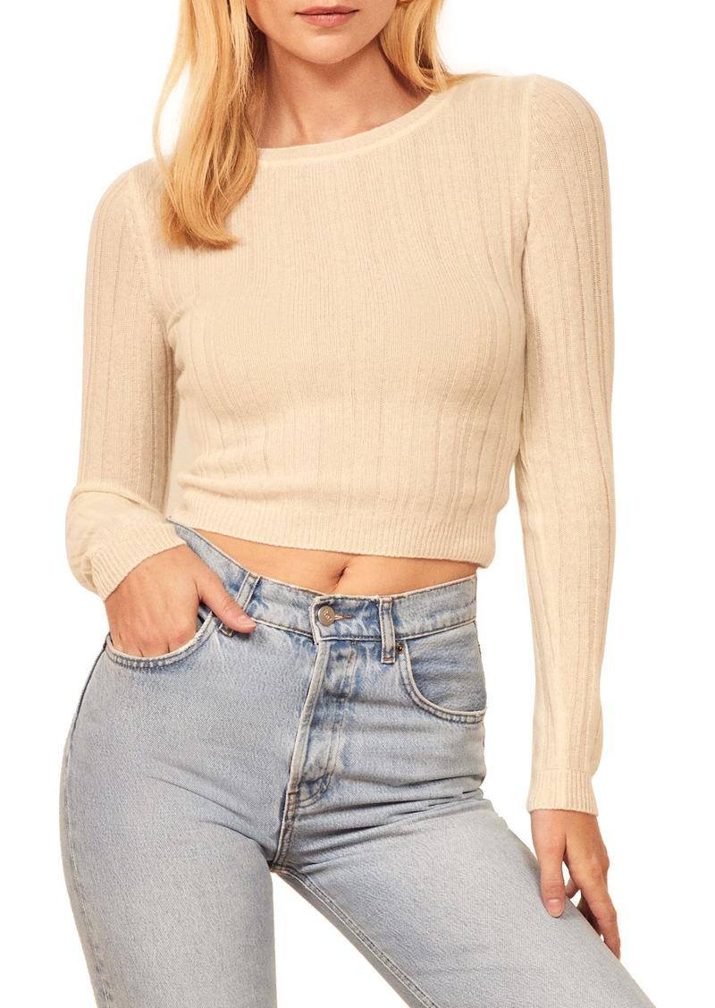 Reformation Cashmere & Wool Crop Sweater