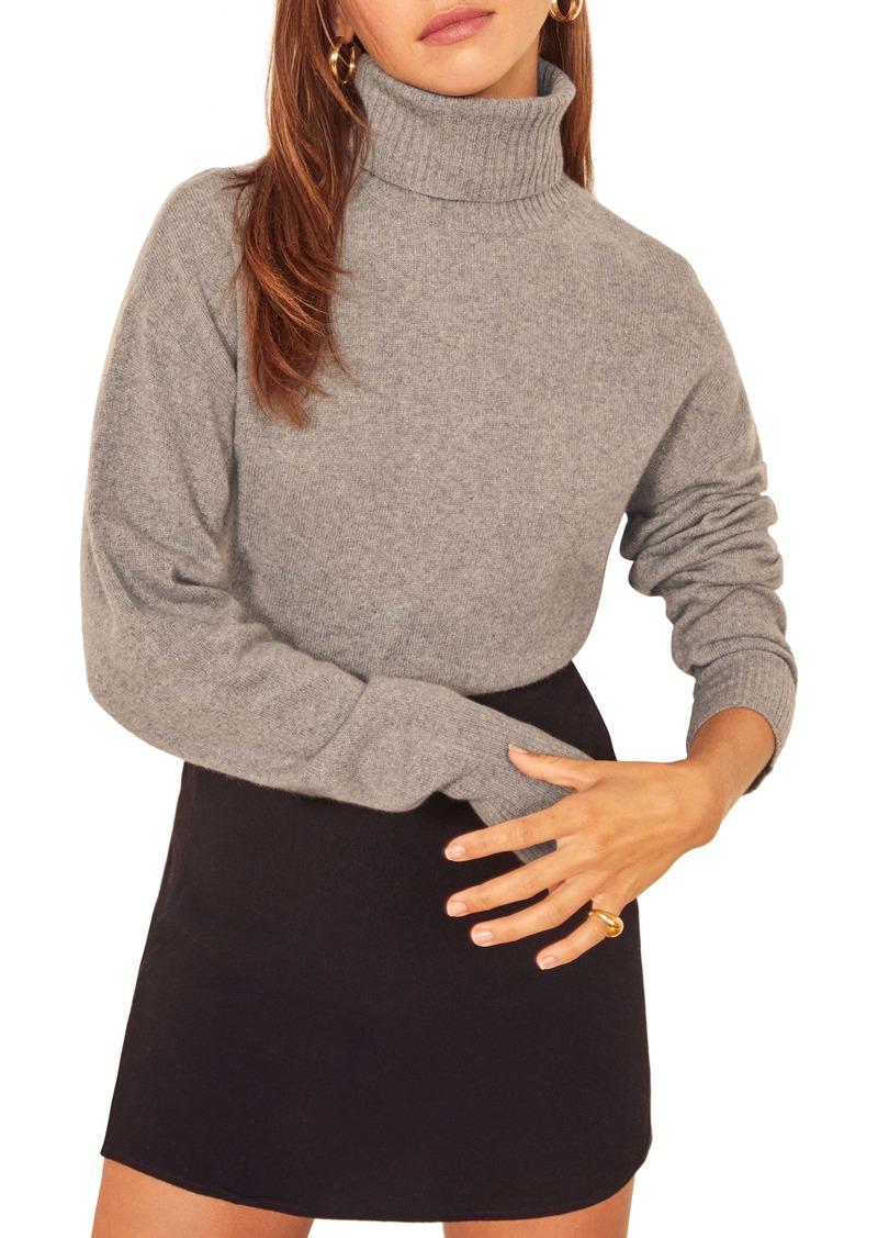 Reformation Cashmere Blend Boyfriend Turtleneck Sweater