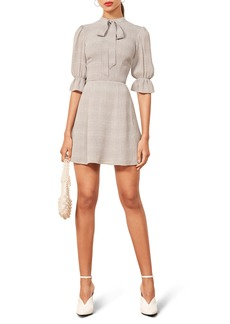 Reformation Cassie Tie Neck Minidress