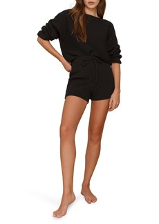 Reformation Cort Ribbed Organic Cotton Pullover & Shorts