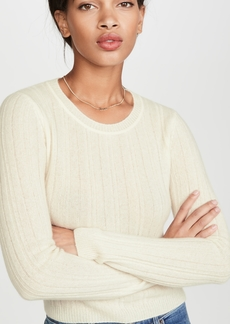 Reformation Cropped Crew Neck Cashmere Sweater