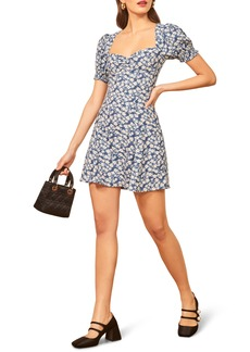 Reformation Drea Sweetheart Neckline Crepe Minidress