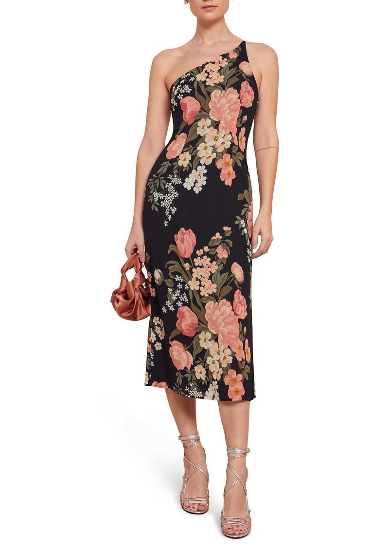Reformation Eastside One-Shoulder Midi Dress