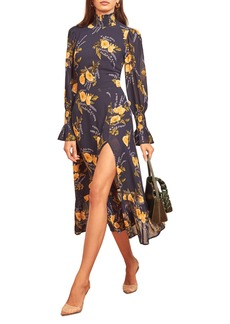 Reformation Galena Long Sleeve Midi Dress