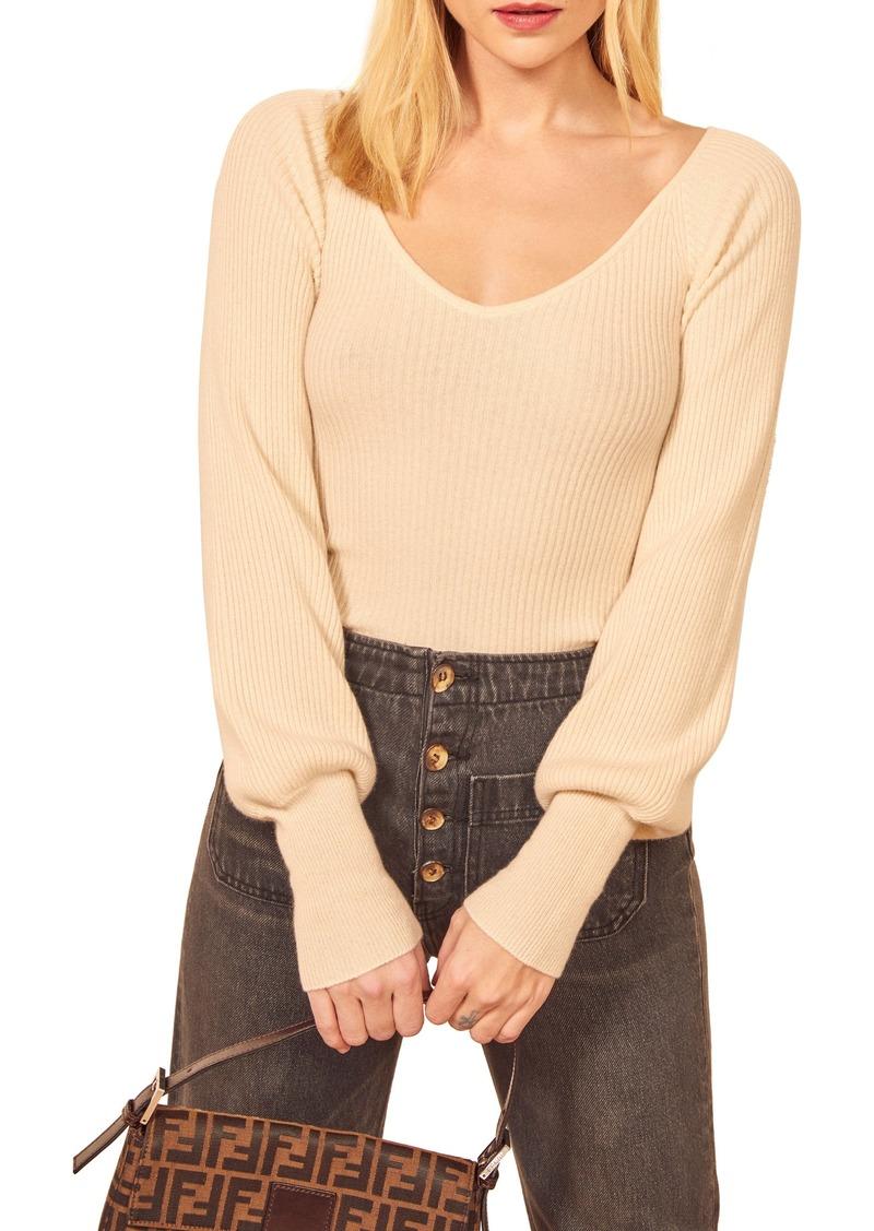 Reformation Hart Wide Neck Sweater