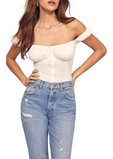 Reformation Honor Off the Shoulder Top