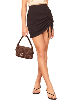 Reformation Ines Side Ruched Miniskirt