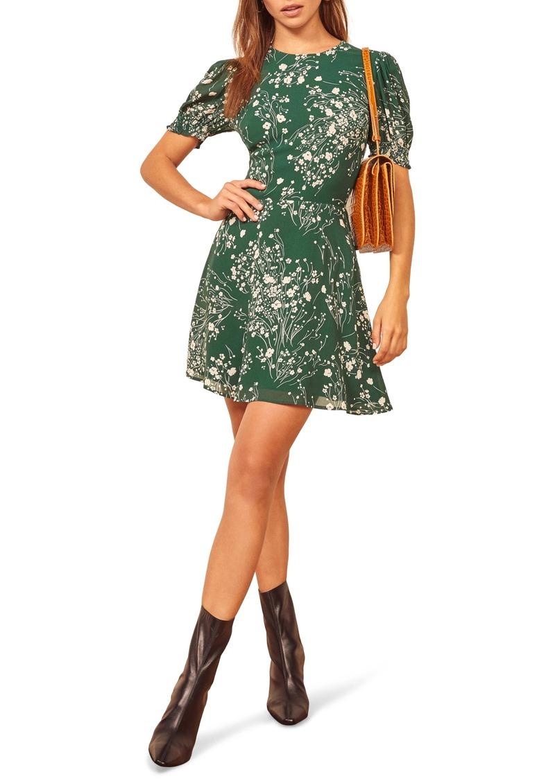 Reformation Irma Floral Short Sleeve Minidress