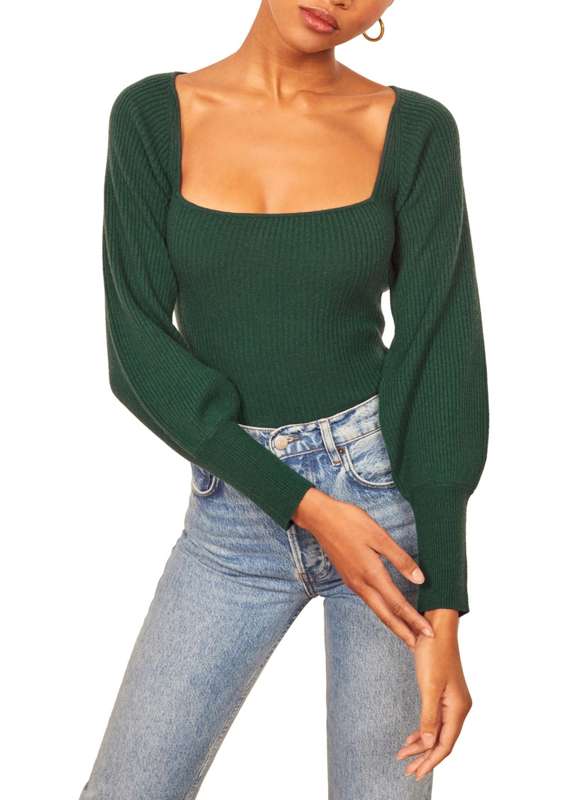Reformation Isabel Ribbed Cashmere & Wool Sweater