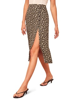 Reformation Jaime Side Slit Midi Skirt
