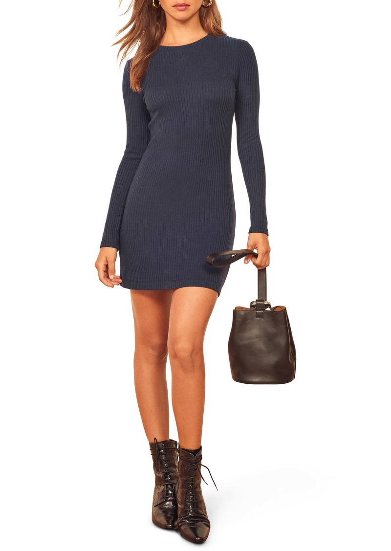 Reformation Jeanne Rib Knit Dress
