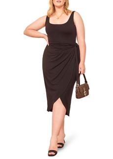 Reformation Kaila Sleeveless Side Tie Dress (Plus Size)