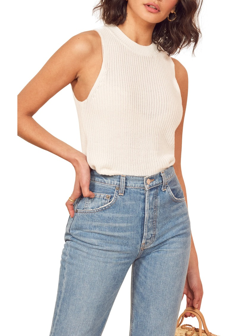 Reformation Lilac Ribbed Top