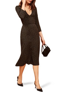 Reformation Mabel Plunge Midi Dress