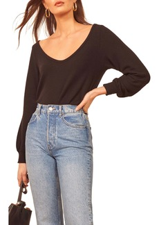 Reformation Maria Relaxed Scoop Neck Top