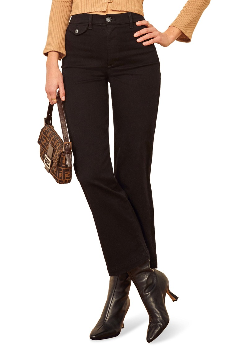 Reformation Mickie Stretch Cotton Trousers