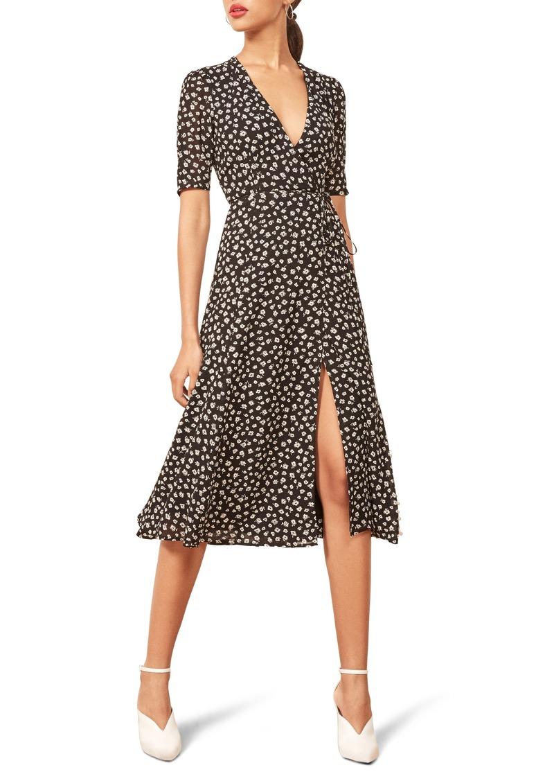 a1f0de2dfa6 Reformation Reformation Mona Wrap Midi Dress Now  118.80