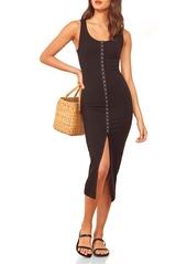 Reformation Nassau Ribbed Stretch Tencel® Lyocell Tank Dress