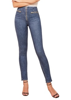 Reformation Niki Zip Pocket Skinny Jeans (Argentine)