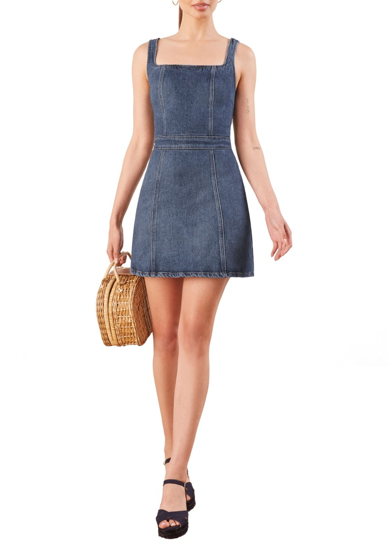 Reformation Parker Denim Pinafore Dress