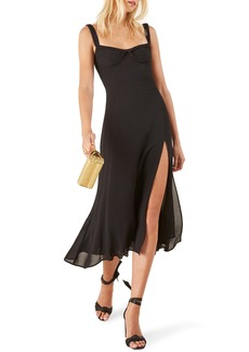 Reformation Peridot Side Slit Dress