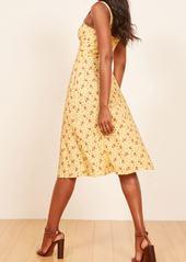 8f0e372192e Reformation Reformation Persimmon Floral Midi A-Line Dress