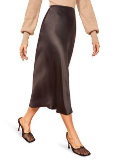 Reformation Pratt Silk Midi Skirt