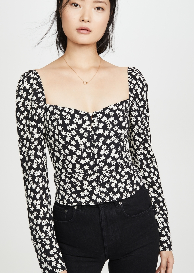 Reformation Rosaly Top