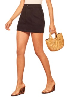 Reformation Rudy Organic Cotton Miniskirt