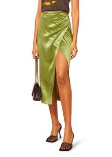 Reformation Sabine Silk Midi Skirt