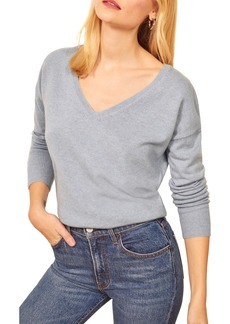 Reformation Sadie Cashmere Blend V-Neck Sweater